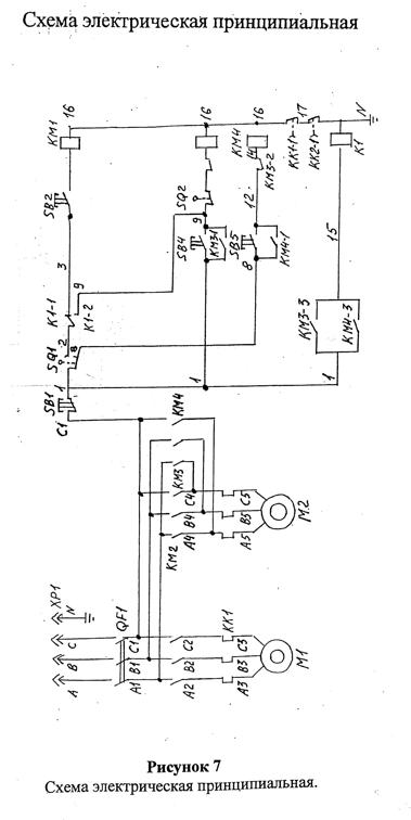 Электрическая схема тестомесильной машины МВ-60