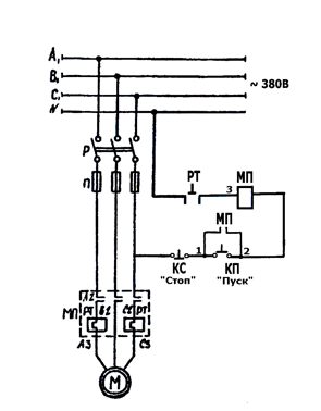Электросхема машины тестомесильной ТММ-1М.